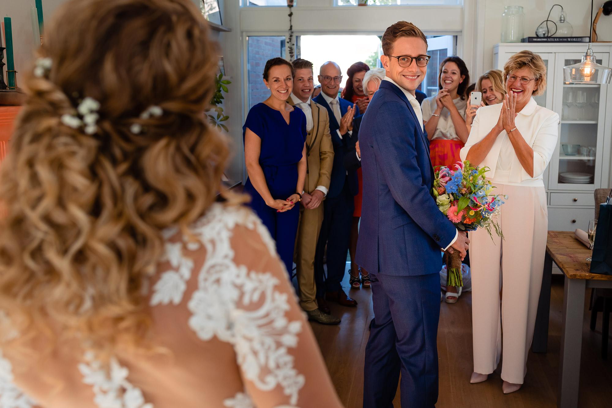Eerste moment dat de bruidegom de bruid ziet