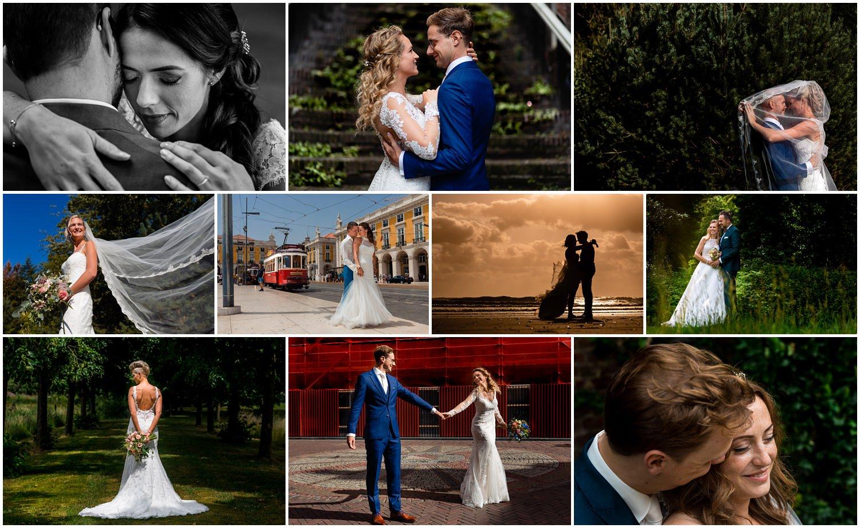 Collage van bruidsparen