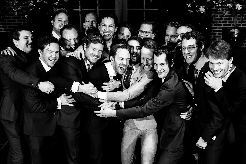 Groepsfoto met de mannen